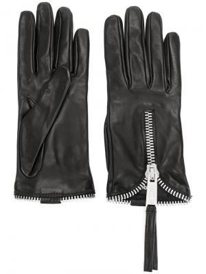 Перчатки на молнии Dsquared2. Цвет: чёрный