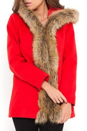 Пальто SHES SECRET SHE'S. Цвет: красный
