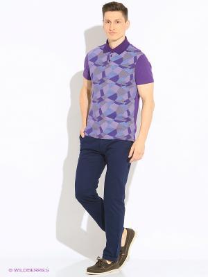 Футболка-поло Mark Formelle. Цвет: фиолетовый, серый, голубой