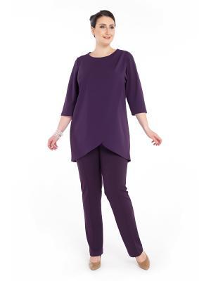 Брюки Darissa Fashion. Цвет: темно-фиолетовый