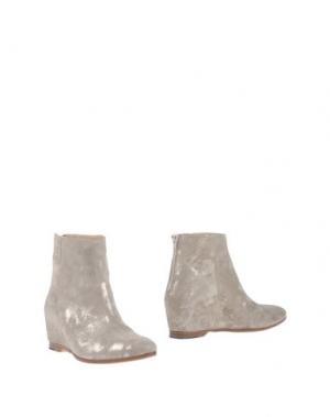 Полусапоги и высокие ботинки SARTORI GOLD. Цвет: платиновый
