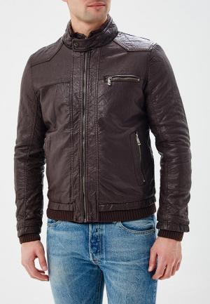Куртка утепленная Justboy. Цвет: коричневый
