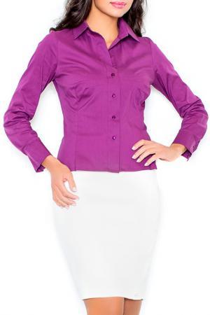 Рубашка Figl. Цвет: eggplant