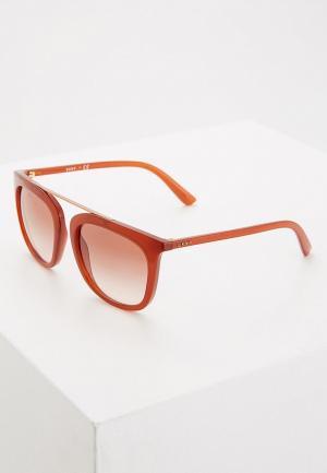 Очки солнцезащитные DKNY. Цвет: красный