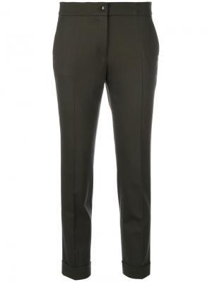Укороченные классические брюки Etro. Цвет: коричневый