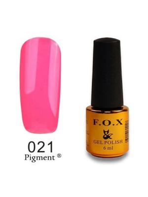 Гель-лак F.O.X Pigment 021, 6 ml. Цвет: розовый