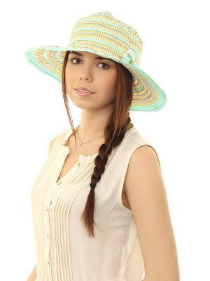 Шляпа Migura. Цвет: бирюзовый, желтый