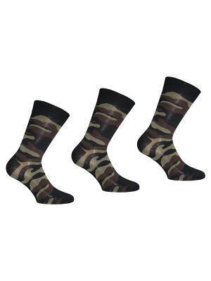 Носки, 3 пары Master Socks. Цвет: черный, коричневый