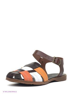 Сандалии METROPOLPOLIS. Цвет: коричневый, оранжевый