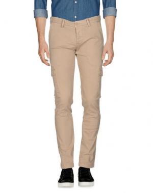 Повседневные брюки QU4TTRO. Цвет: песочный