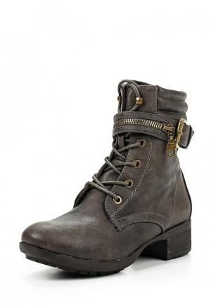 Ботинки Moda GY. Цвет: серый