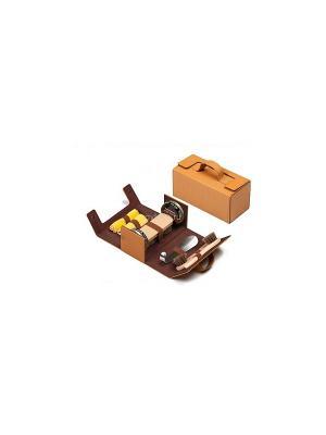 Набор Tarrago, в кожаном футляре (светло-коричневый), Tarrago. Цвет: коричневый