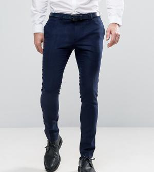 Noak Супероблегающие строгие брюки. Цвет: темно-синий