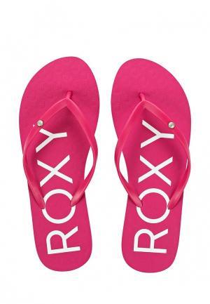 Сланцы Roxy. Цвет: розовый