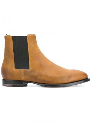 Ботинки с контрастными вставками Buttero. Цвет: коричневый