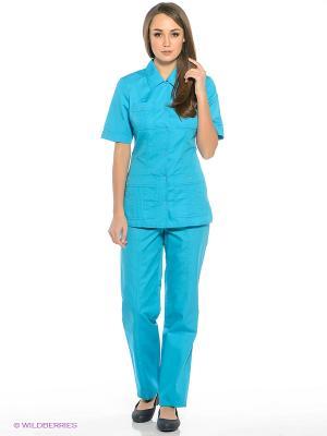 Брюки медицинские Med Fashion Lab. Цвет: бирюзовый