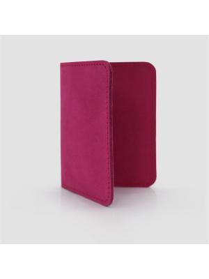 Картхолдер книжка натуральная кожа IN.HAND. Цвет: фуксия