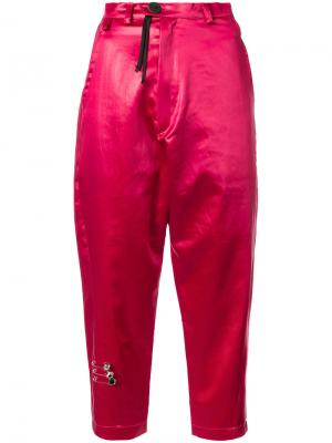 Укороченные брюки Im A Luxury Barbara Bologna. Цвет: розовый и фиолетовый