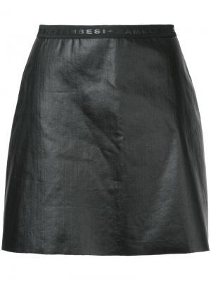 Юбка мини с необработанными краями Zambesi. Цвет: чёрный