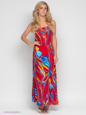 Платье Klimini. Цвет: красный, желтый, зеленый, синий