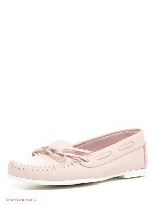 Мокасины El Tempo. Цвет: бледно-розовый
