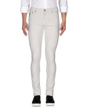 Джинсовые брюки APRIL 77. Цвет: слоновая кость