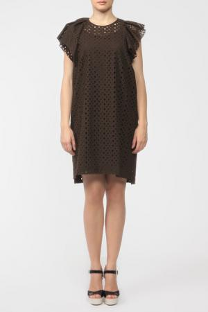 Платье Isabel Marant. Цвет: шоколад