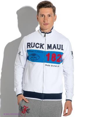Кофта Ruck&Maul. Цвет: белый, темно-синий, голубой