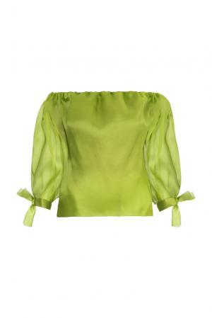 Блуза из шелка 157797 Lolita Shonidi. Цвет: зеленый