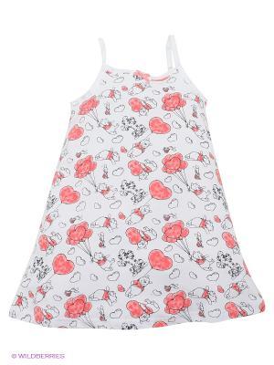 Сорочка PlayToday. Цвет: белый, красный, розовый, черный