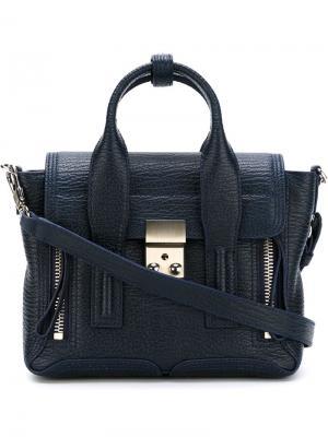 Мини сумка-сэтчел Pashli 3.1 Phillip Lim. Цвет: синий