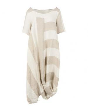 Платье до колена CORINNA CAON. Цвет: светло-серый