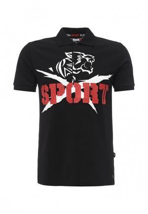 Поло Plein Sport. Цвет: черный