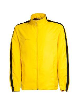 Ветровка спортивная Futuro 2K. Цвет: черный, желтый