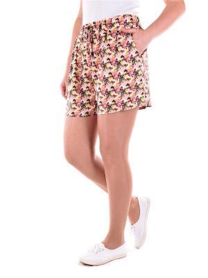 Шорты женские OLBE. Цвет: коричневый, желтый, розовый