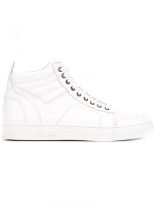 Хайтопы на шнуровке Del Toro Shoes. Цвет: белый