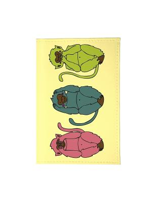 Визитница три обезьяны Mitya Veselkov. Цвет: желтый