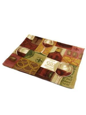 Полотенце Вино La Pastel. Цвет: зеленый, бордовый, коричневый