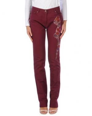 Повседневные брюки BLU BYBLOS. Цвет: баклажанный