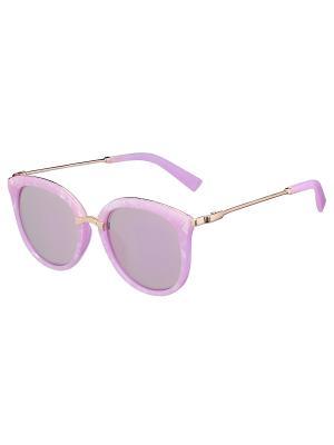 Очки солнцезащитные Модные истории. Цвет: розовый