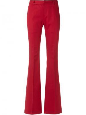 Расклешенные брюки Tufi Duek. Цвет: красный