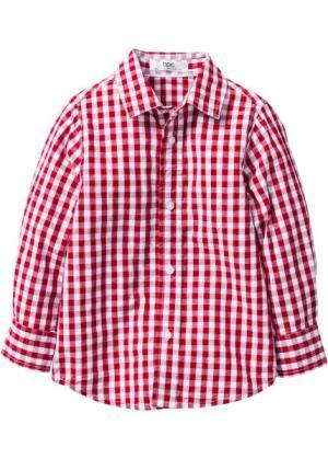 Рубашка для Октоберфеста, Размеры  80/86-128/134 (темно-красный/белый в клетку) bonprix. Цвет: темно-красный/белый в клетку