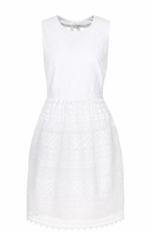 Кружевное мини-платье с карманами No. 21. Цвет: белый
