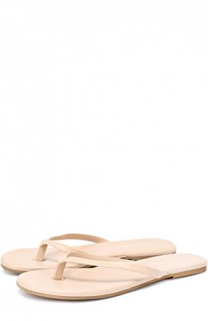 Кожаные пляжные шлепанцы Melissa Odabash. Цвет: бежевый