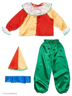 Карнавальный костюм Петрушка Волшебный мир. Цвет: желтый