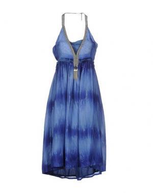 Платье длиной 3/4 EYEDOLL. Цвет: пастельно-синий