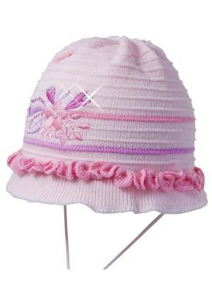 Шапка Ambra. Цвет: бледно-розовый, розовый, сиреневый