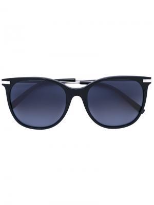 Солнцезащитные очки с квадратной оправой Boucheron. Цвет: чёрный