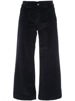Широкие бархатные брюки The Seafarer. Цвет: синий