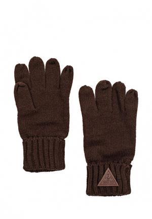 Перчатки Guess. Цвет: коричневый